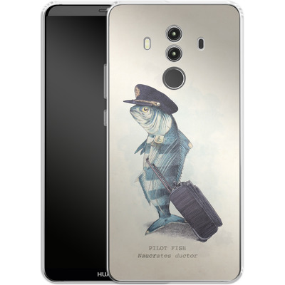 Huawei Mate 10 Pro Silikon Handyhuelle - The Pilot von Eric Fan