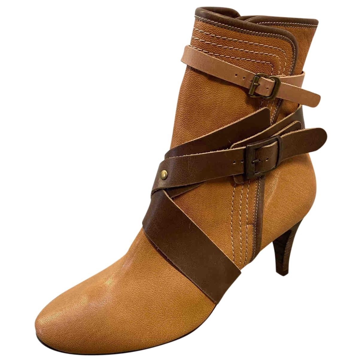 Chloe - Boots   pour femme en cuir - multicolore