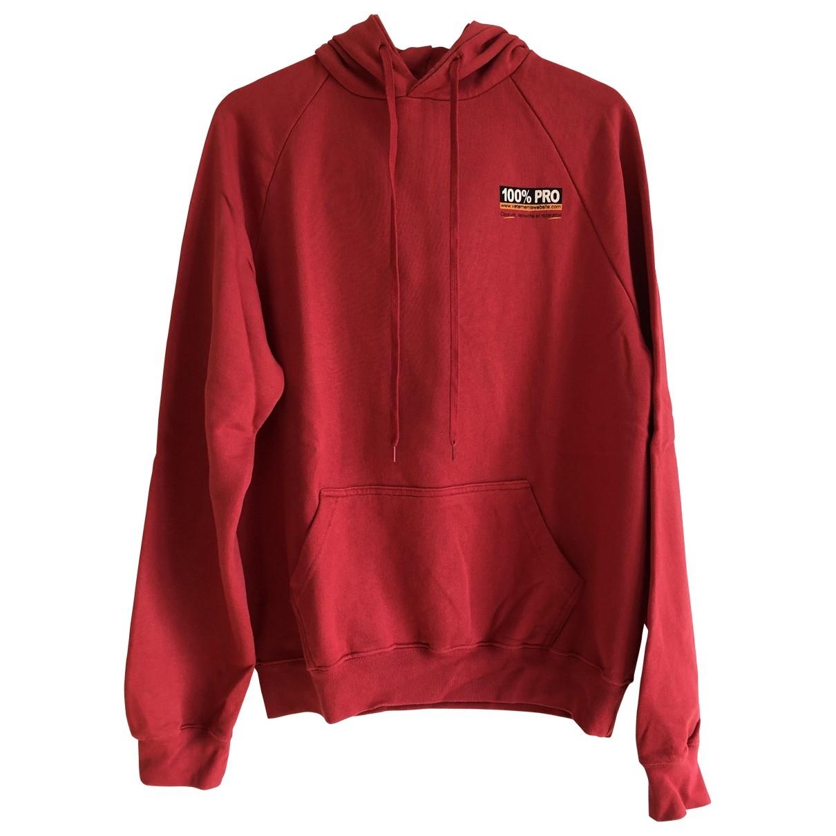 Vetements \N Red Cotton Knitwear & Sweatshirts for Men M International
