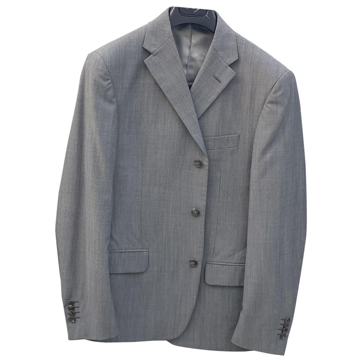 Corneliani \N Anzuege in  Grau Wolle