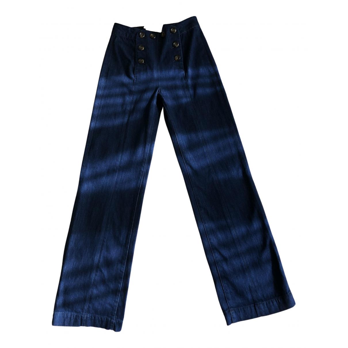 Sézane Fall Winter 2019 Blue Cotton Jeans for Women 36 FR