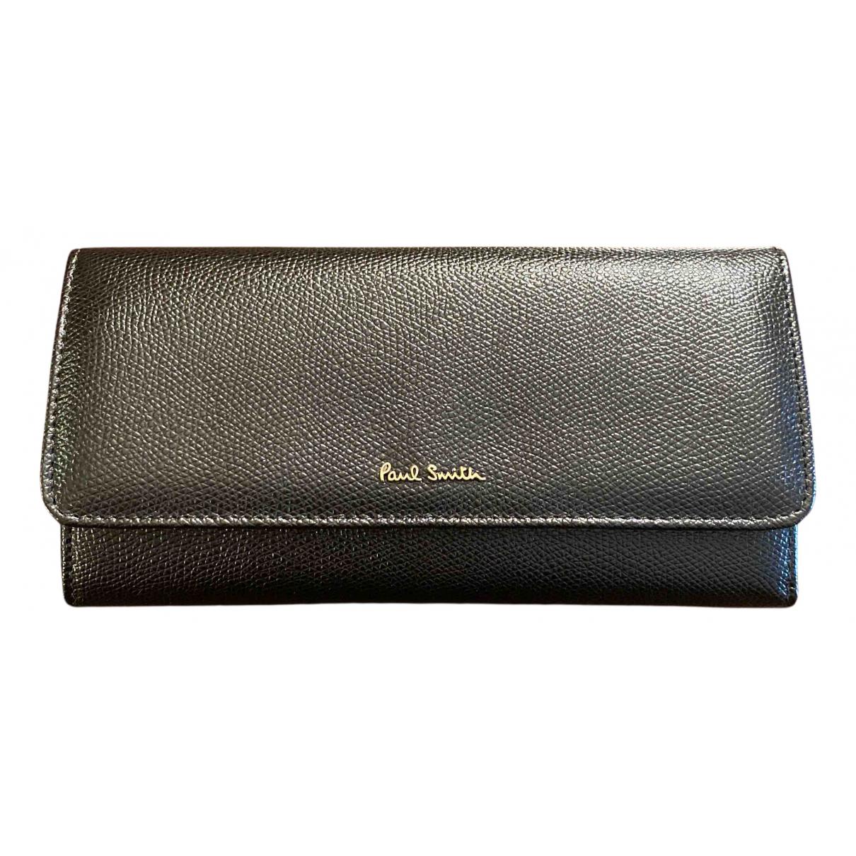 Paul Smith - Portefeuille   pour femme en cuir - noir