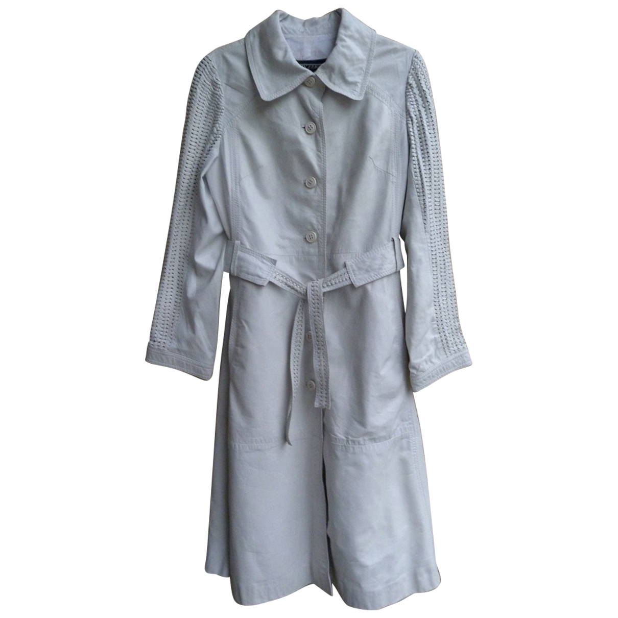 Louis Feraud \N Trench in  Weiss Leder
