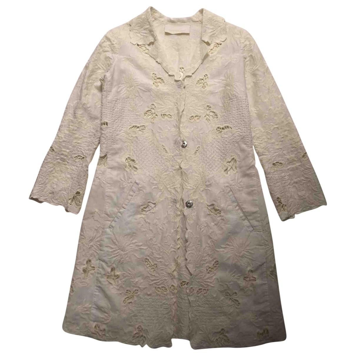 Ermanno Scervino - Veste   pour femme en lin - blanc