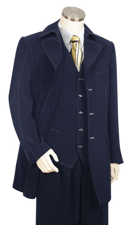 3 Piece Navy Zoot Suit Mens