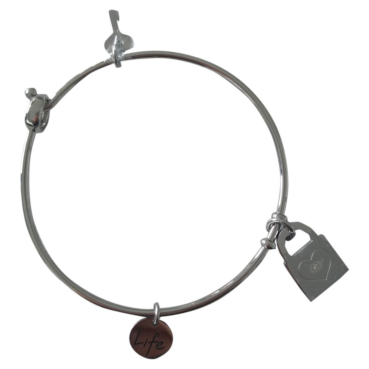 - Bracelet Jonc pour femme en acier - argente