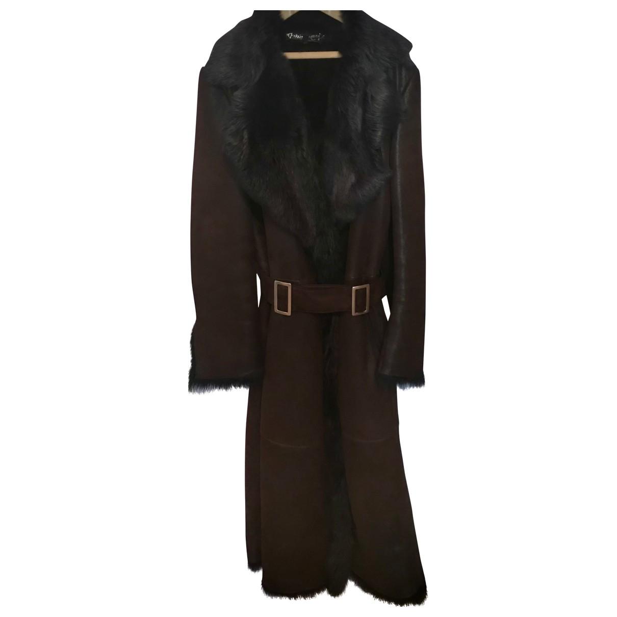 Gucci N Brown Fox coat for Women 42 IT