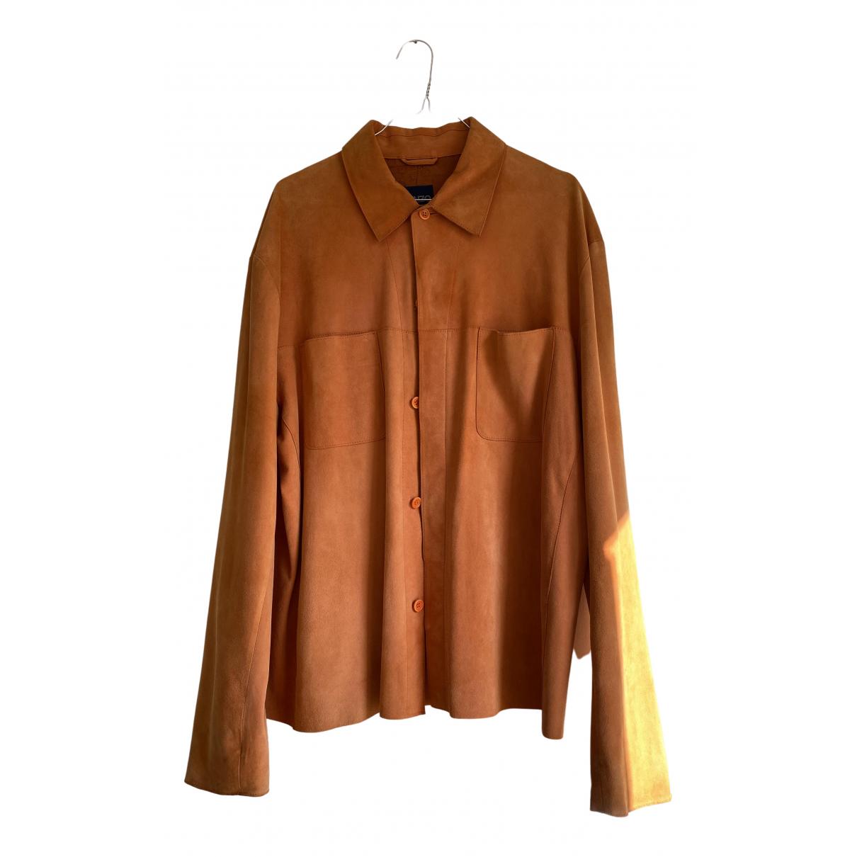 Kenzo N Orange Suede Shirts for Men XL International