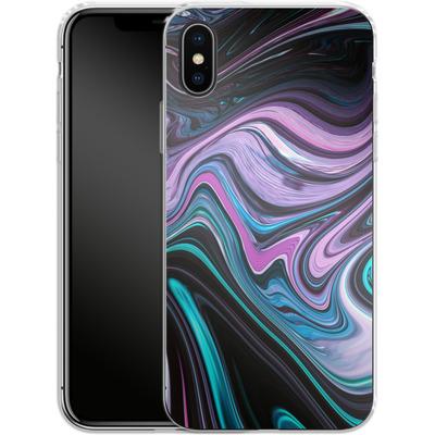 Apple iPhone X Silikon Handyhuelle - Digital Swirl von #basic
