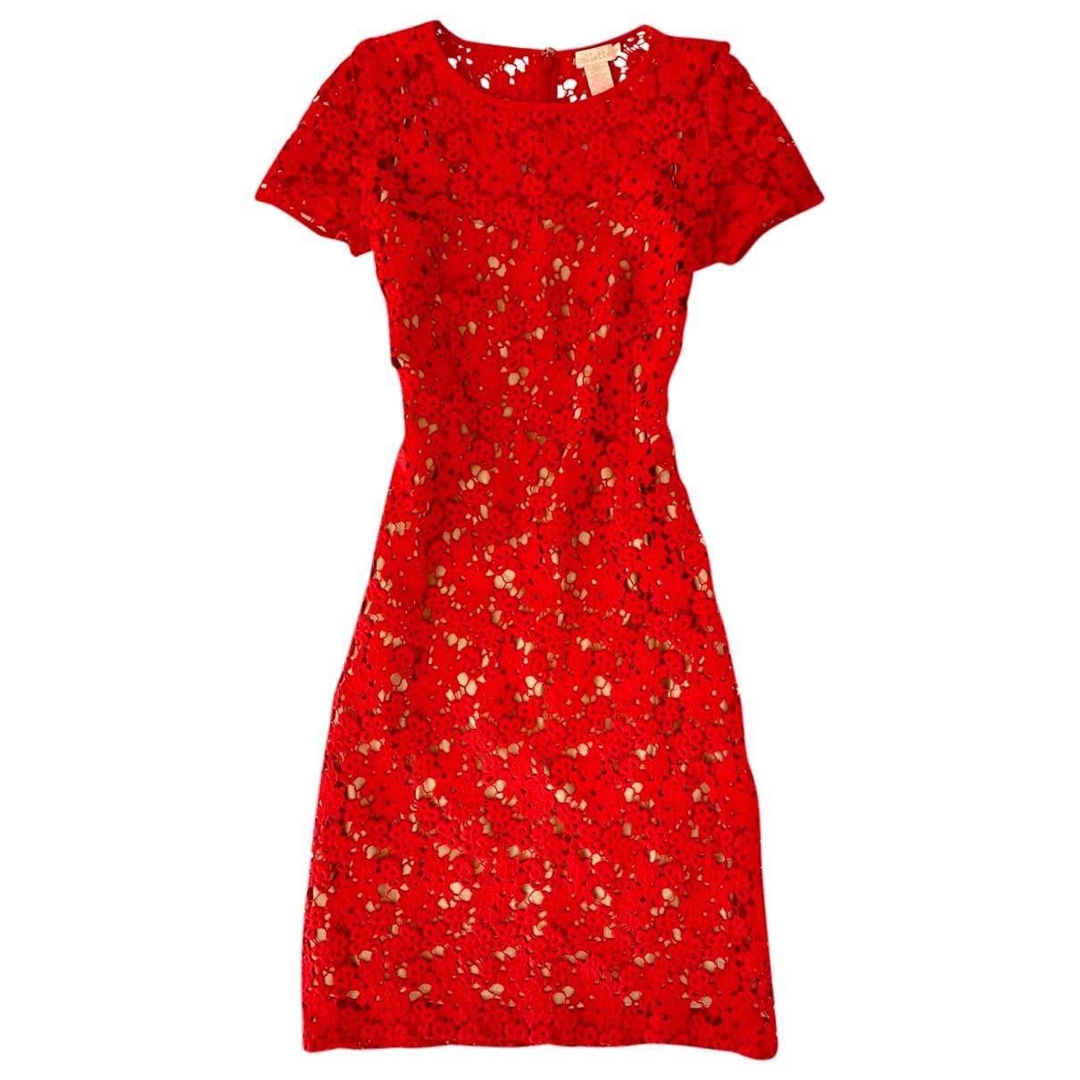 Collette Dinnigan \N Kleid in  Rot Spitze