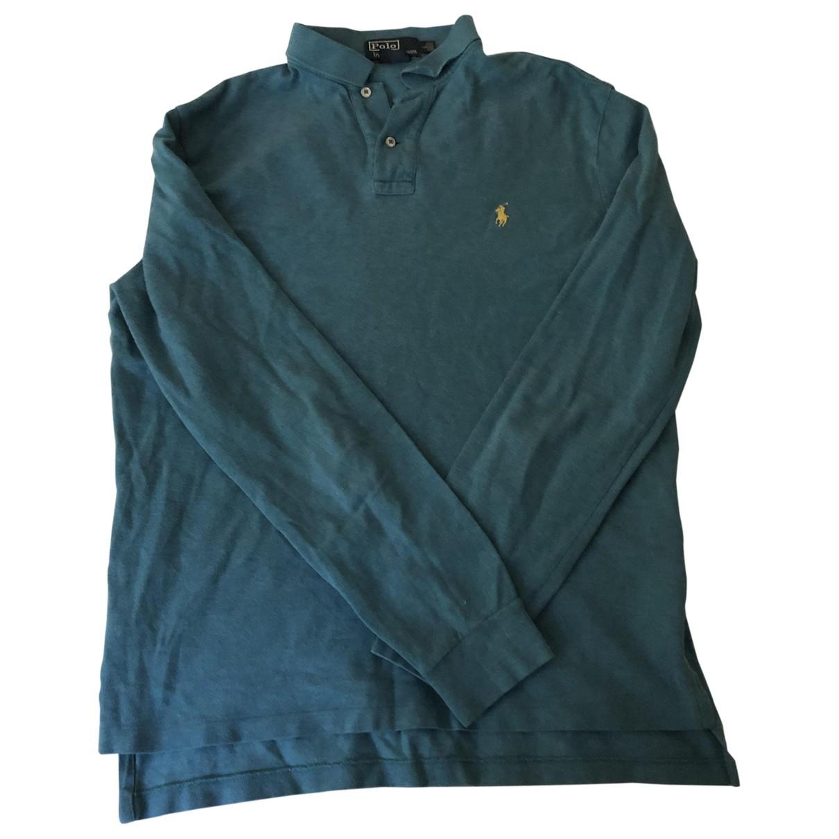 Polo Polo ajuste manches longues en Algodon Azul Polo Ralph Lauren
