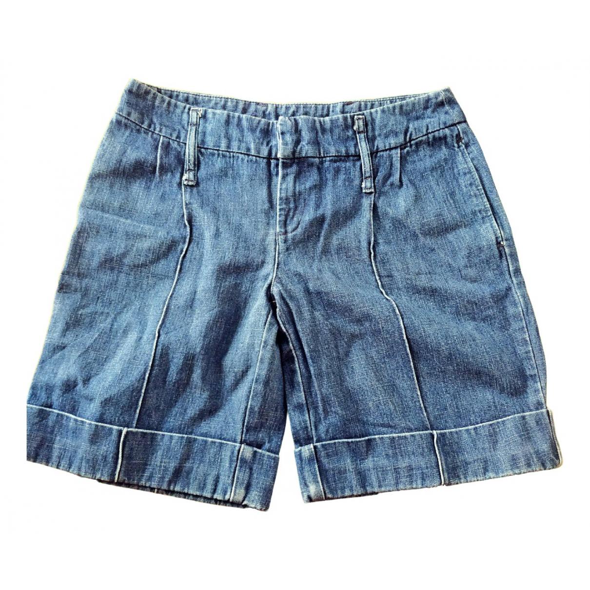 Max & Co \N Blue Cotton Shorts for Men 40 FR