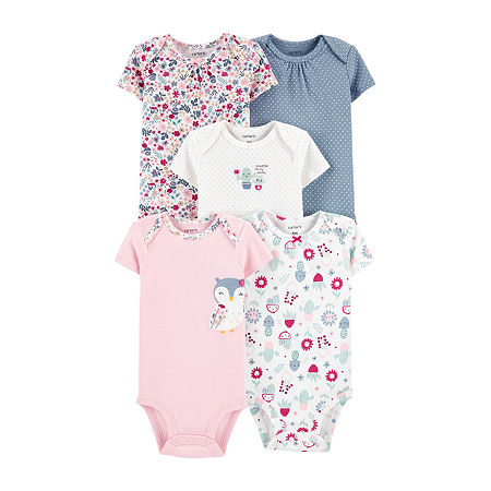 Carter's Little Baby Basic Baby Girls 5-pc. Bodysuit, 3 Months , Multiple Colors