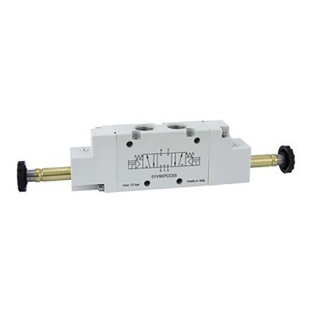 RS PRO 5/3 Normally Pressurized Pneumatic Control Valve Solenoid G 1/8