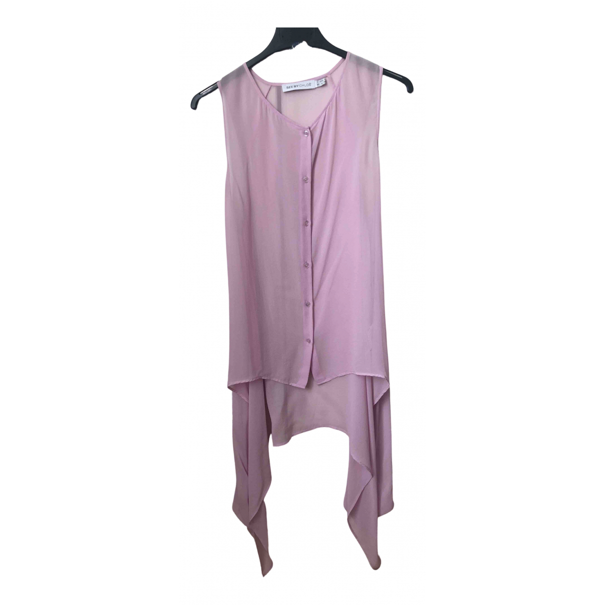 See By Chloé N Pink Silk  top for Women 40 IT