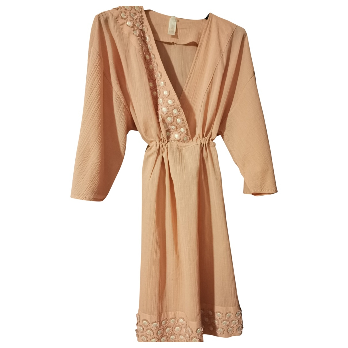 Non Signé / Unsigned \N Pink Linen dress for Women 42 IT