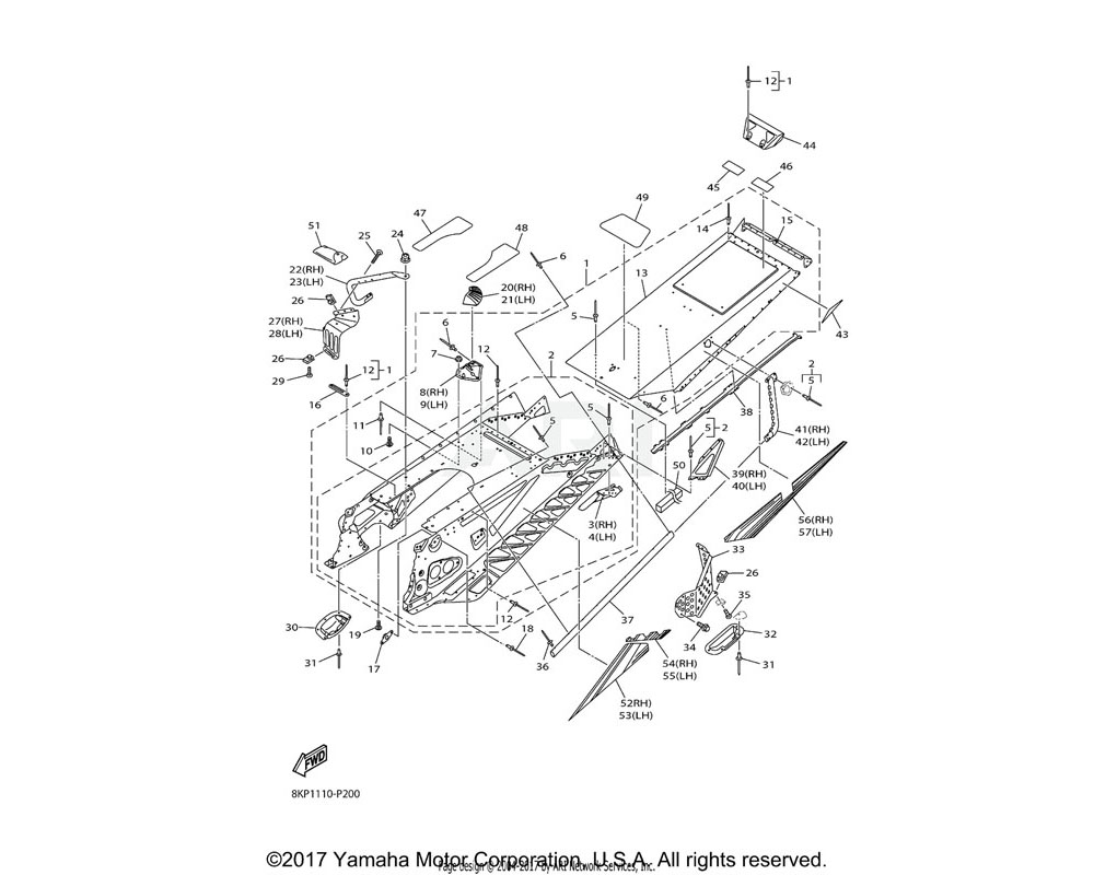 Yamaha OEM 8JR-H2589-00-00 PROTECTER, WIRE HARNESS