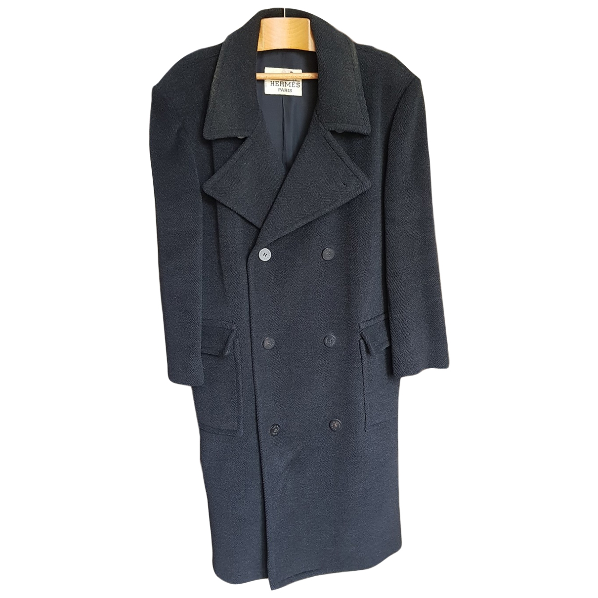 Hermès \N Anthracite Wool coat  for Men L International