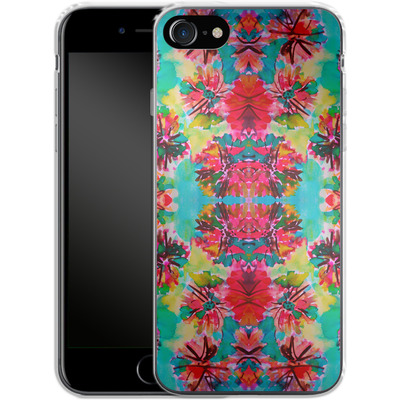 Apple iPhone 8 Silikon Handyhuelle - Tropical Floral von Amy Sia