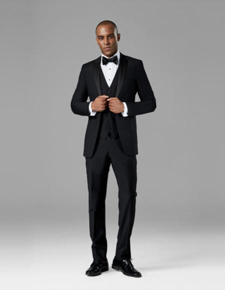 Mens Black best Suit buy one get one suits free Suit