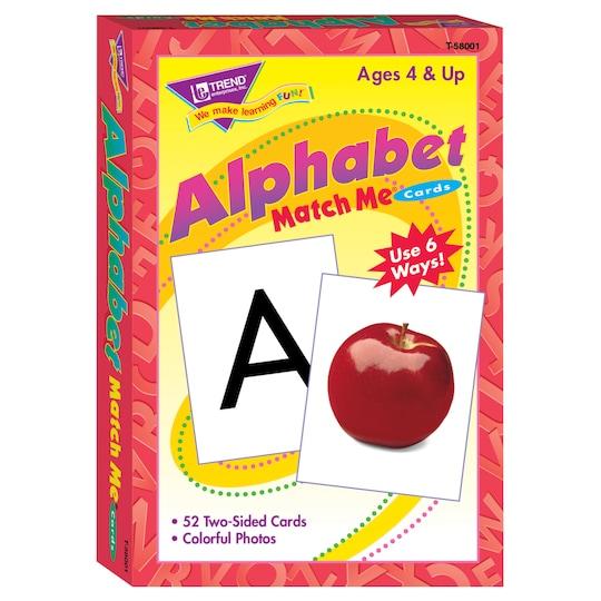 Trend Enterprises Alphabet Match Me® Cards, 6 Sets | Michaels®