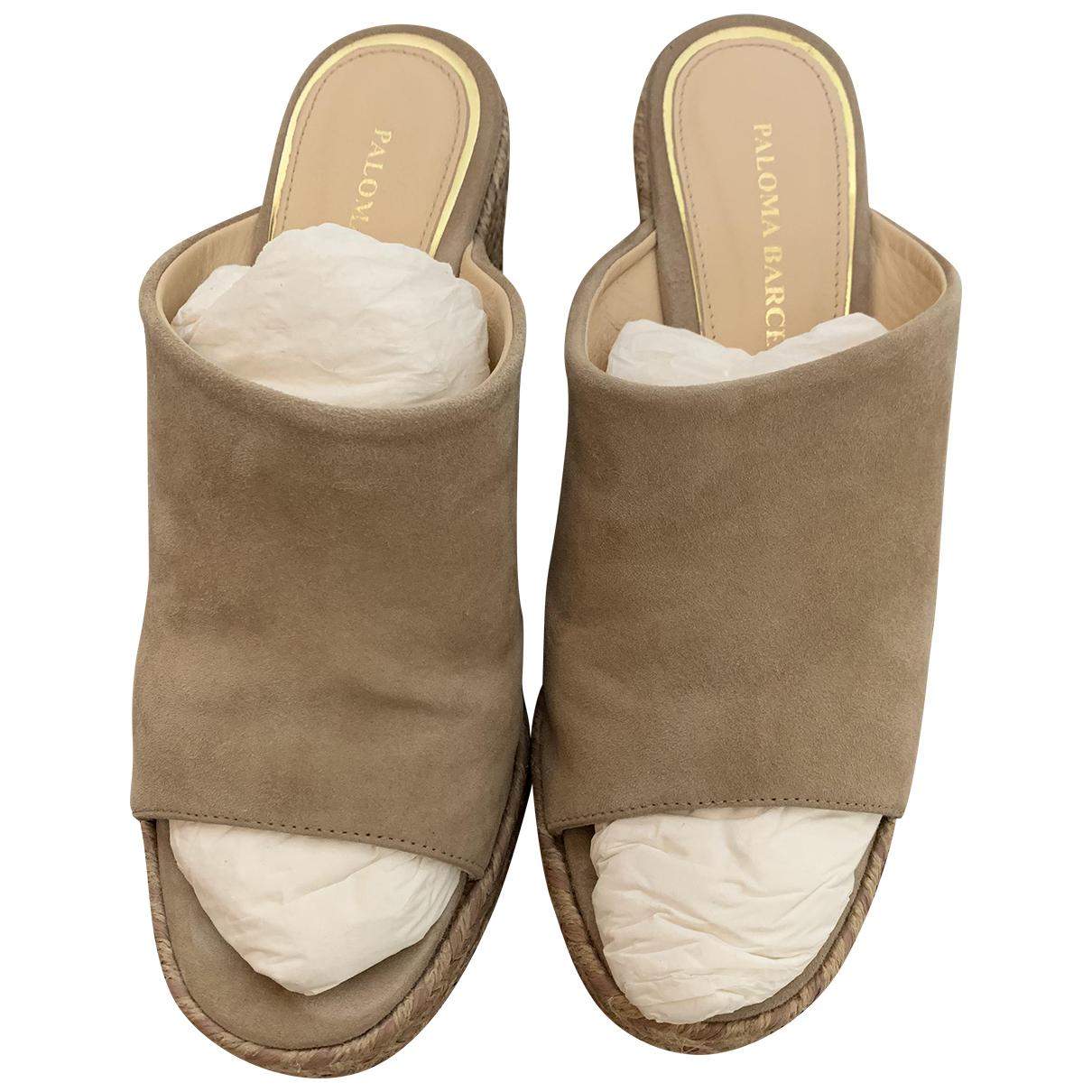 Paloma Barcelo - Escarpins   pour femme en cuir - beige