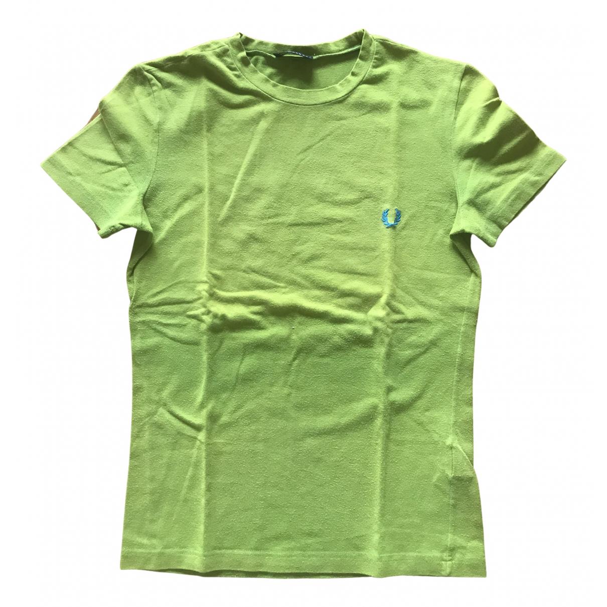 Fred Perry - Top   pour femme en coton - vert
