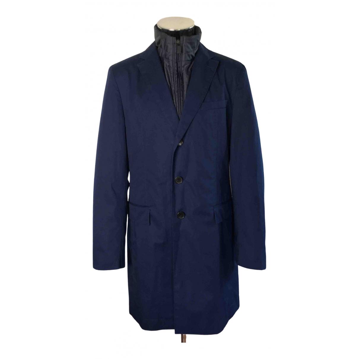 Boss - Manteau   pour homme en coton - bleu