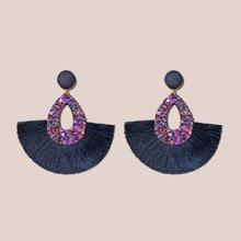 Fan Tassel Drop Earrings