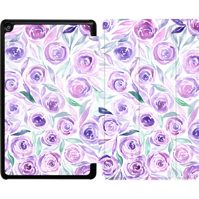 Amazon Fire HD 8 (2018) Tablet Smart Case - Purple Rose Floral von Becky Starsmore