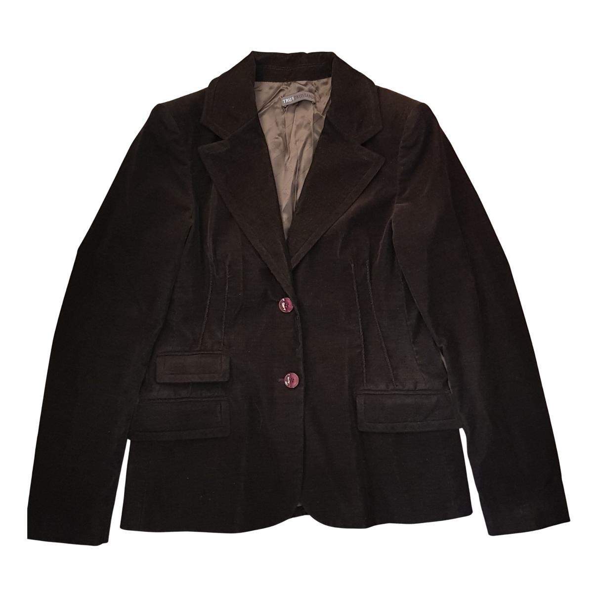 Trussardi \N Brown Cotton jacket for Women 46 IT