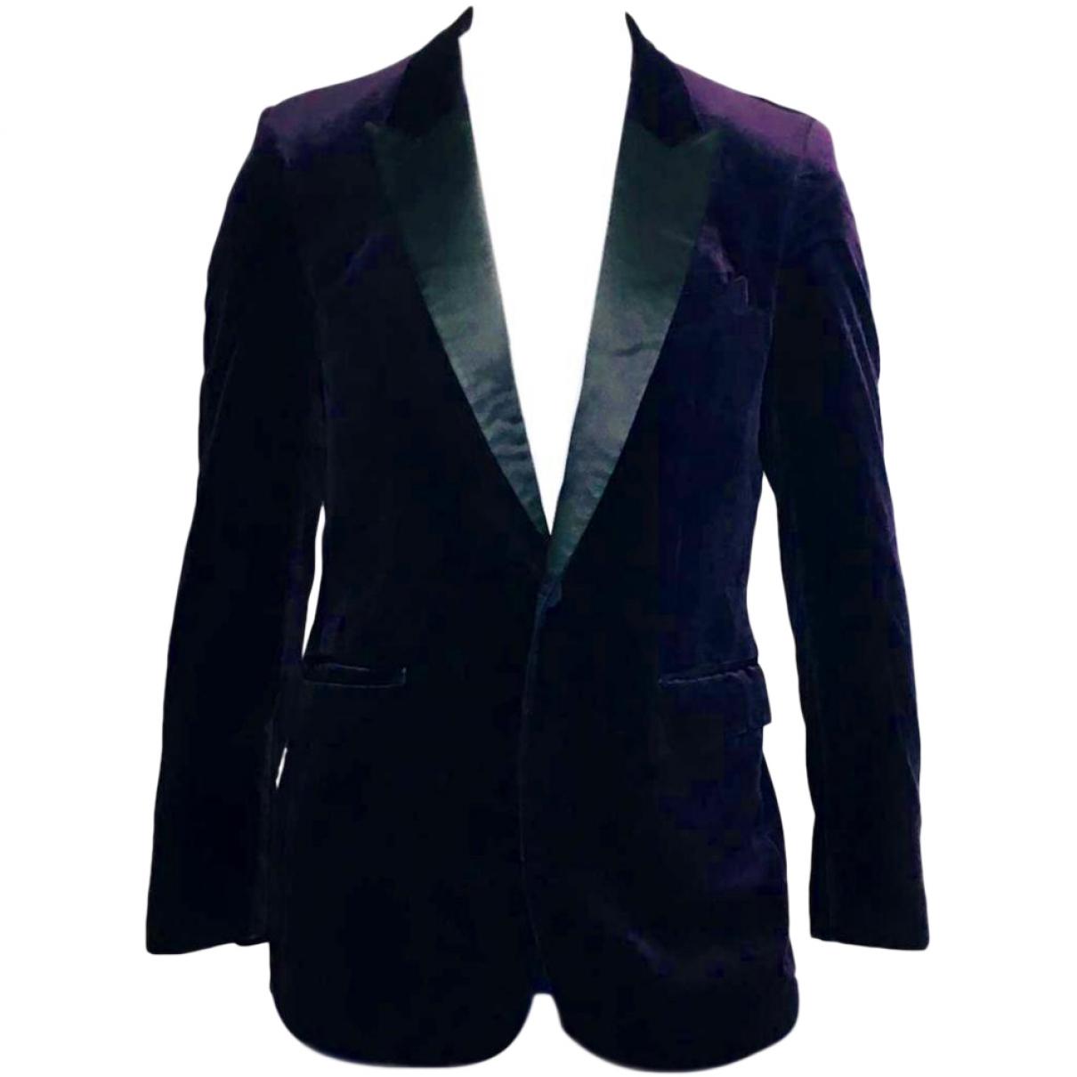 Burberry \N Purple Velvet jacket  for Men 50 IT