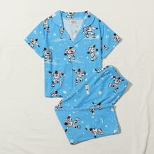 Toddler Boys Spaceman And Galaxy Print Pajama Set