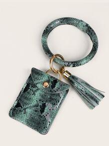 Snakeskin Print Bag Accessory