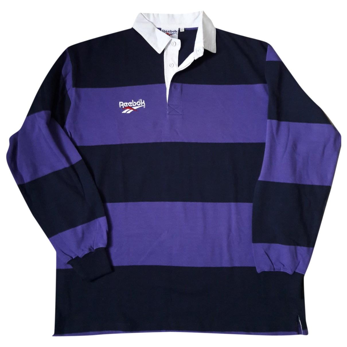 Reebok - Polos   pour homme en coton - bleu