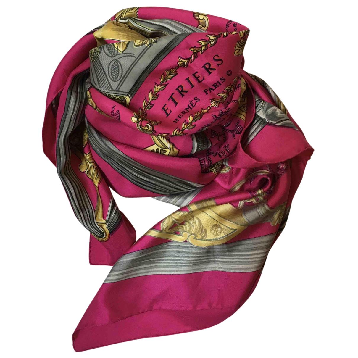 Hermès Carré 90 Pink Silk Silk handkerchief for Women N