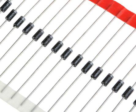 Vishay 1000V 1A, Silicon Junction Diode, 2-Pin DO-204AL 1N4007-E3/54 (220)