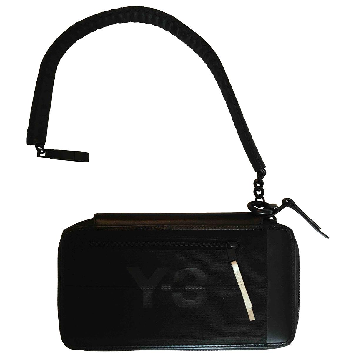 Y-3 - Portefeuille   pour femme en cuir - noir