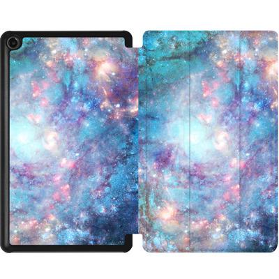 Amazon Fire 7 (2017) Tablet Smart Case - Abstract Galaxy - Blue von Barruf