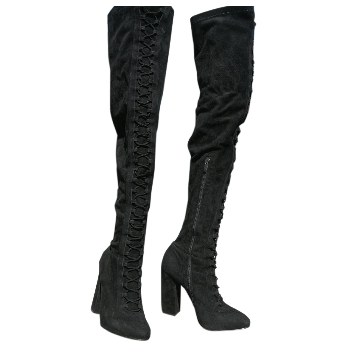 Le Silla \N Black Leather Boots for Women 38 EU