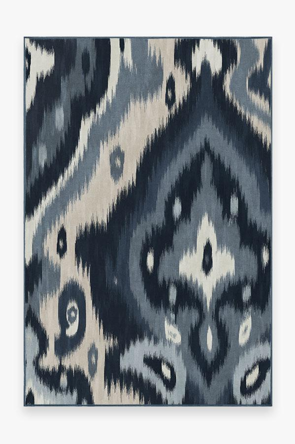Washable Rug Cover & Pad | Endah Blue Rug | Stain-Resistant | Ruggable | 6'x9'