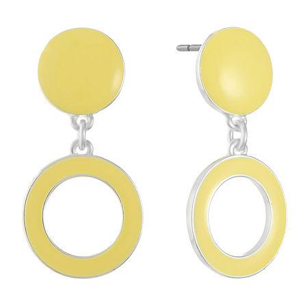 Gloria Vanderbilt 1 Pair Drop Earrings, One Size , Yellow