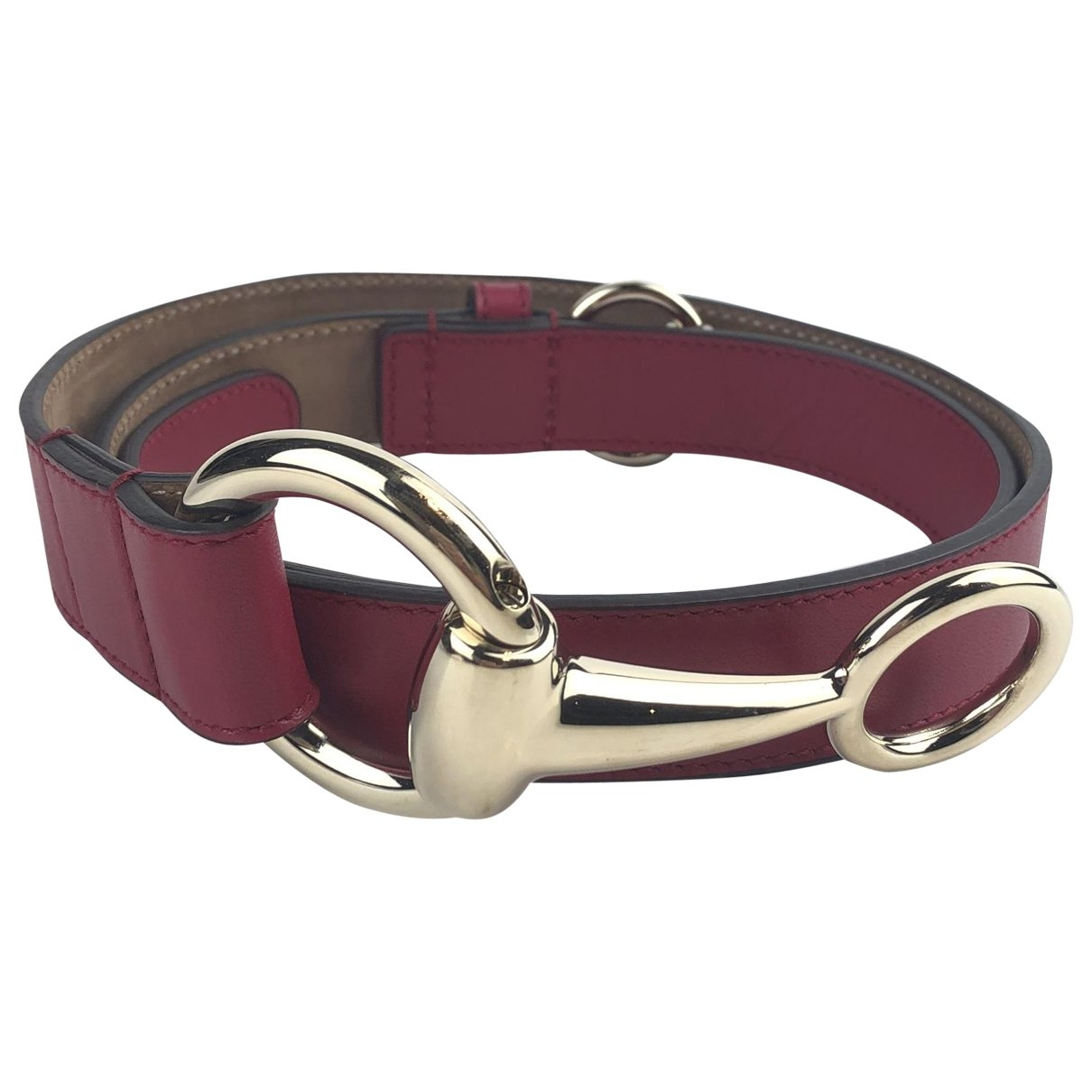 Gucci \N Pink Leather belt for Women 80 cm