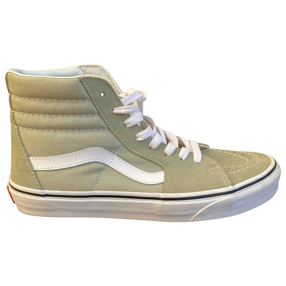 Vans - Baskets   pour femme en suede - vert