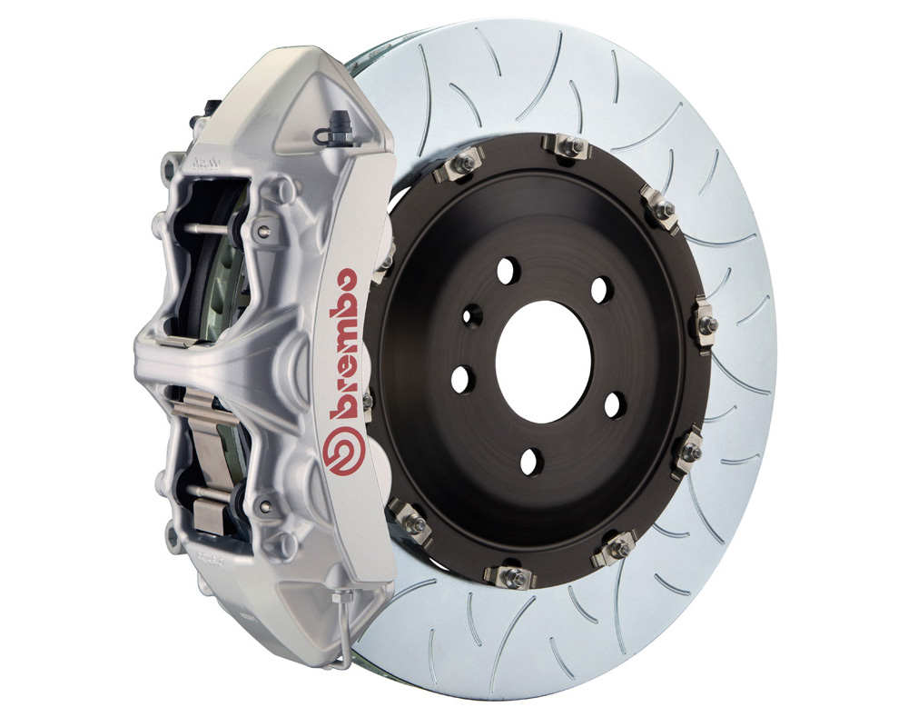 Brembo GT 380x34 2-Piece 6 Piston Silver Slotted Type-3 Front Big Brake Kit 17-19
