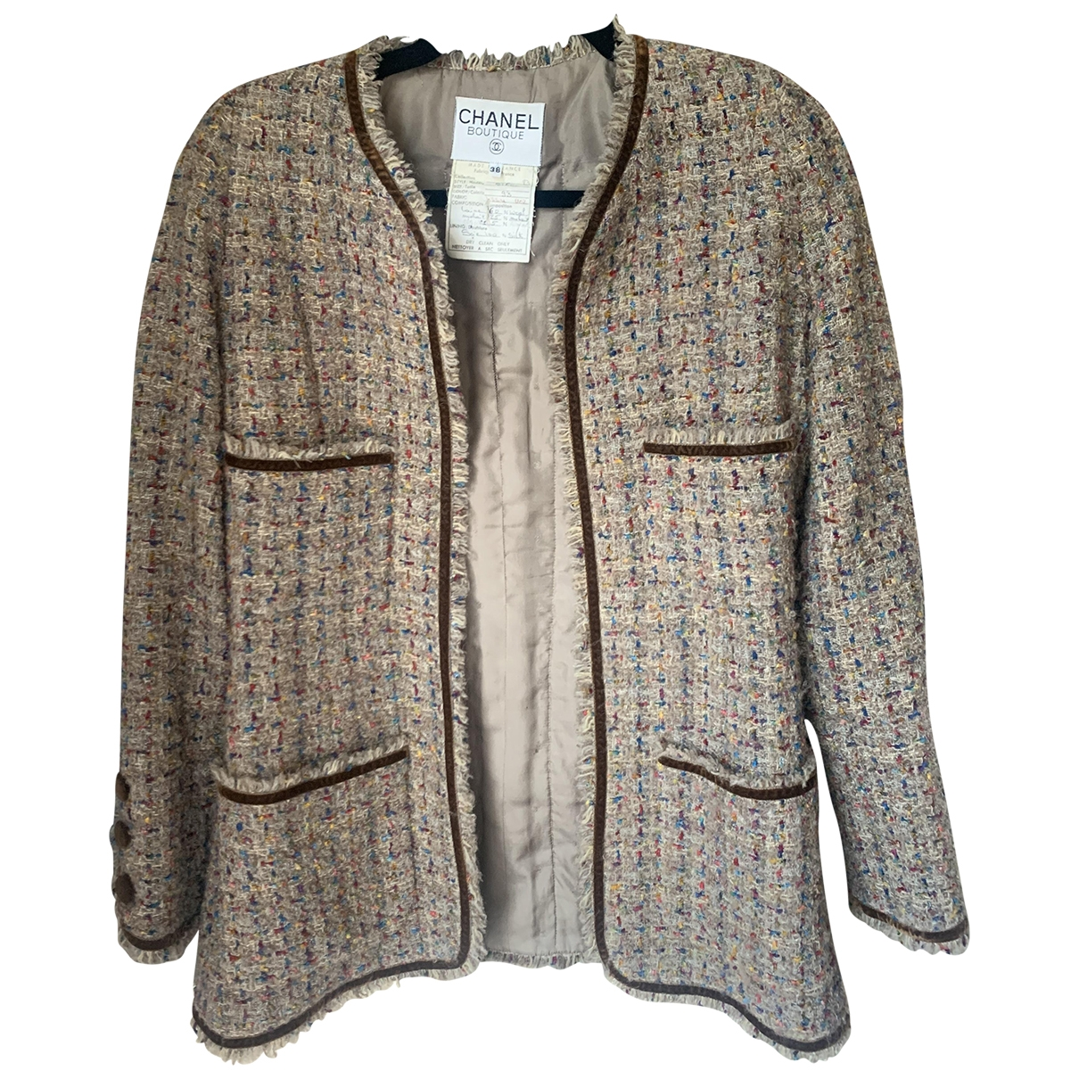 Chanel \N Tweed jacket for Women 38 FR