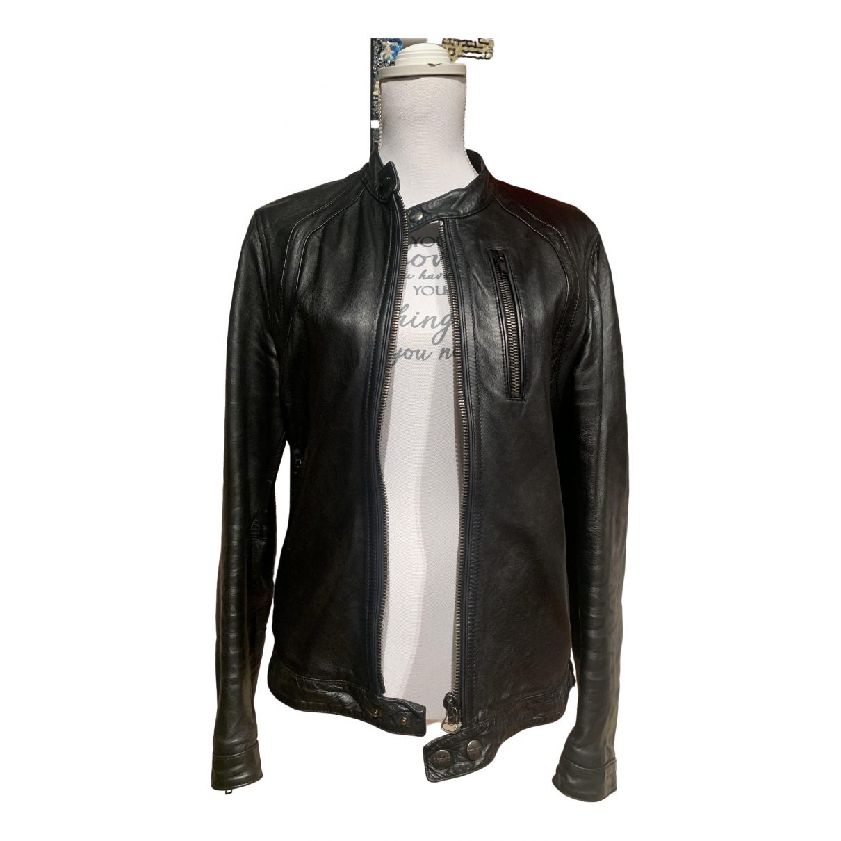 Moschino \N Black Leather jacket  for Men M International