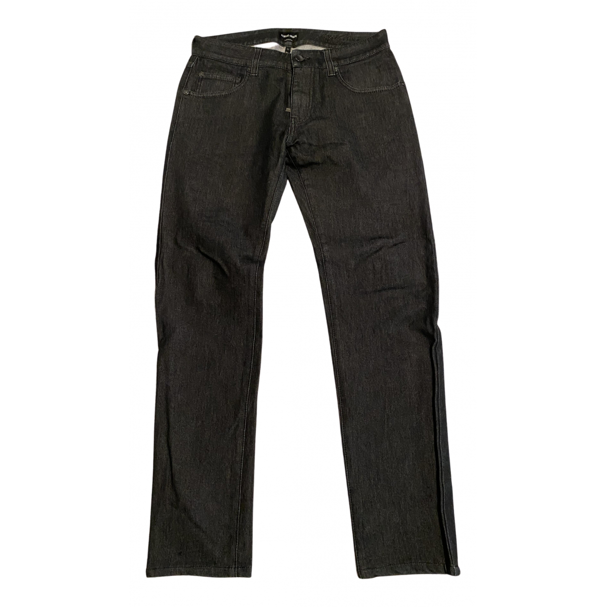 Giorgio Armani N Anthracite Cotton Jeans for Men 31 US