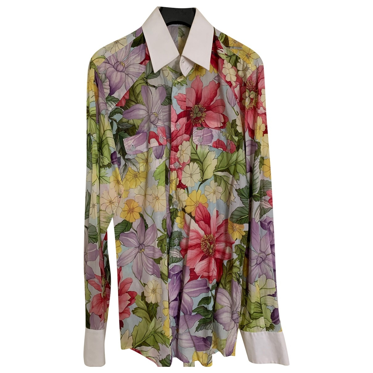 Dolce & Gabbana \N Multicolour Linen Shirts for Men 40 EU (tour de cou / collar)