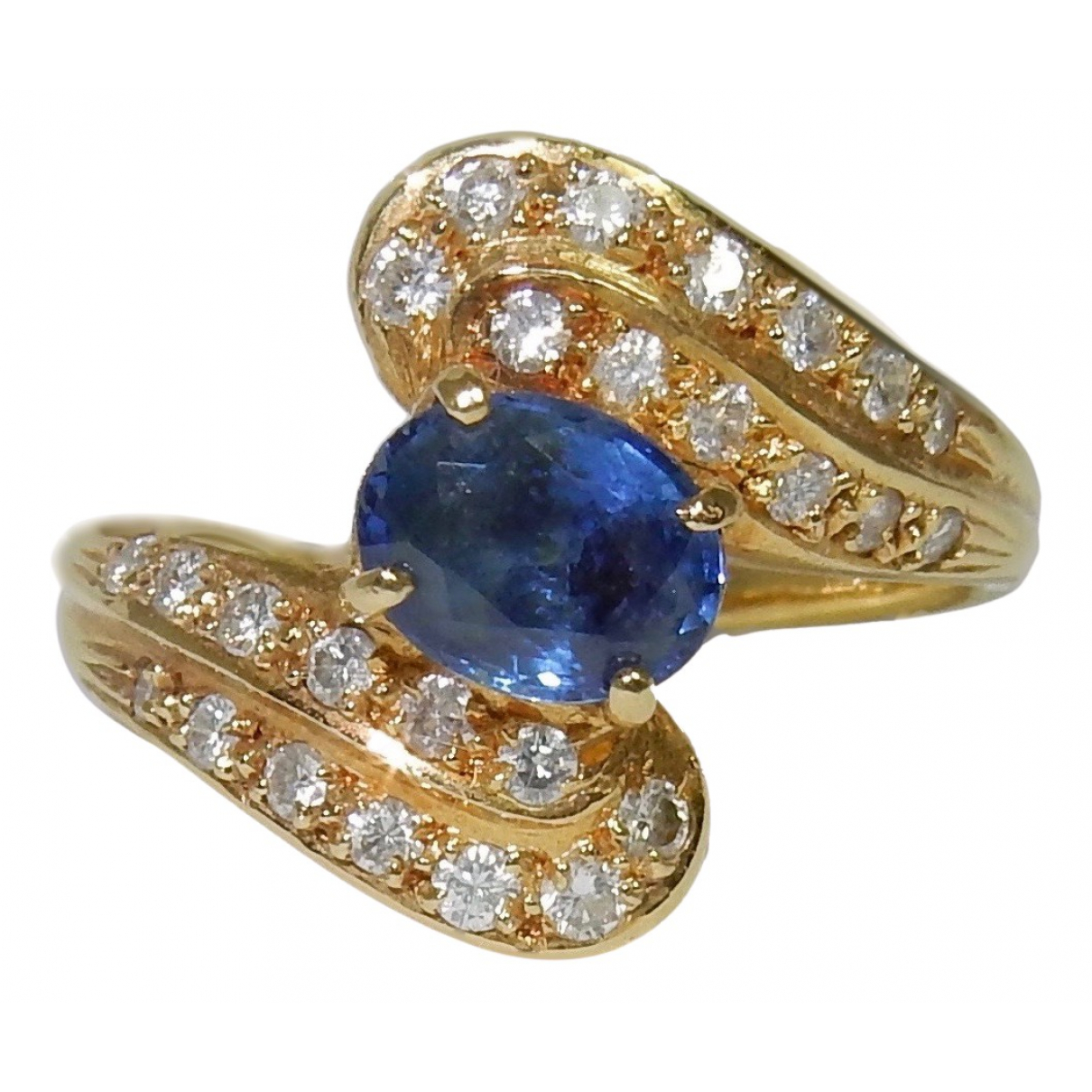 Non Signé / Unsigned Saphir Blue Yellow gold ring for Women 53 EU